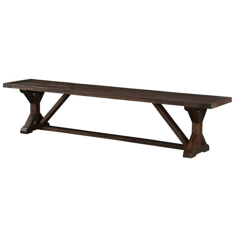 Reese Solid Wood Dining Bench in Natural Acacia