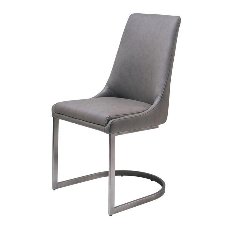 Vinson Sculpted Modern Dining Chair in Cobalt