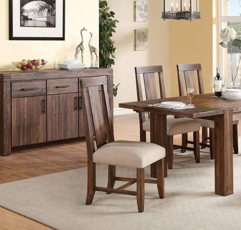 Meadow Solid Wood Upholstered Dining Chair In Brick Brown What A Room