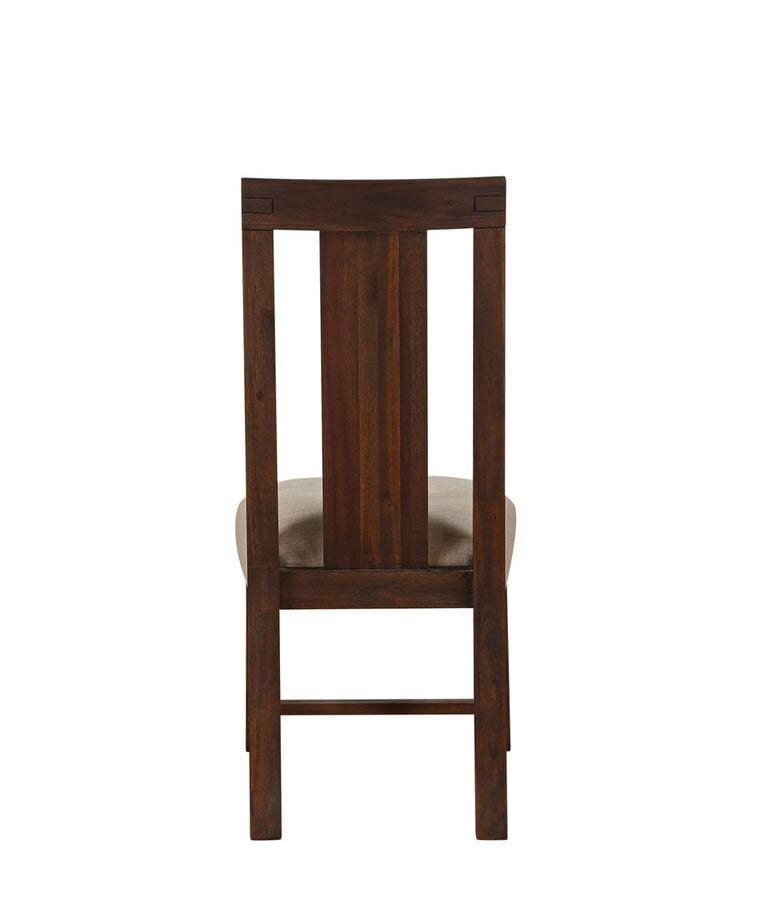 Meadow Solid Wood Upholstered Dining Chair in Brick Brown - Set of 2 - What A Room Furniture