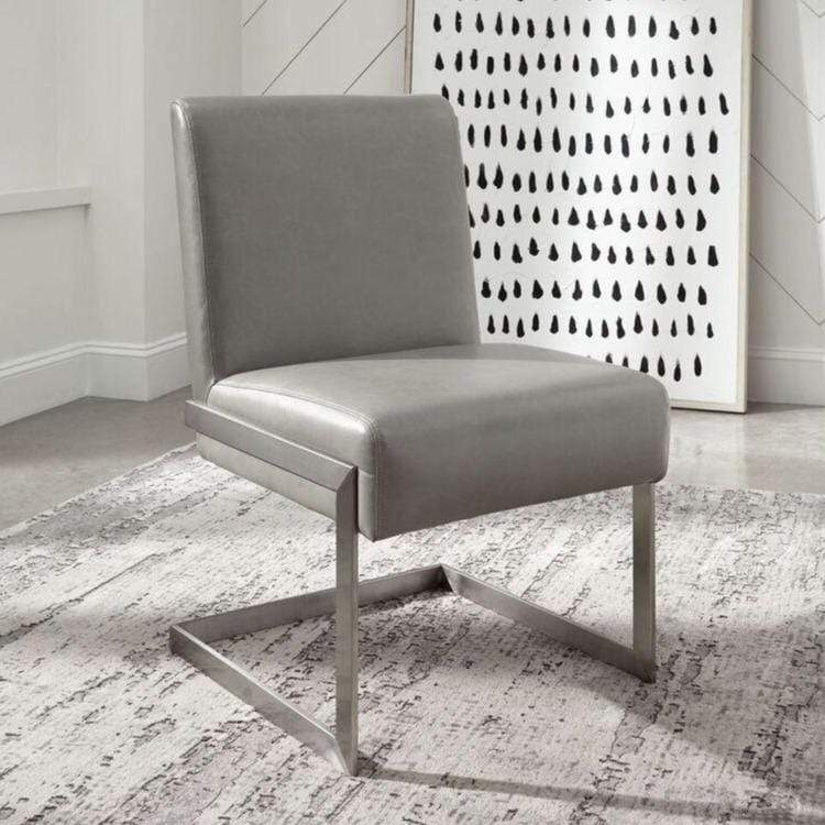 Coral Synthetic Leather Upholstered Dining Chair - What A Room Furniture
