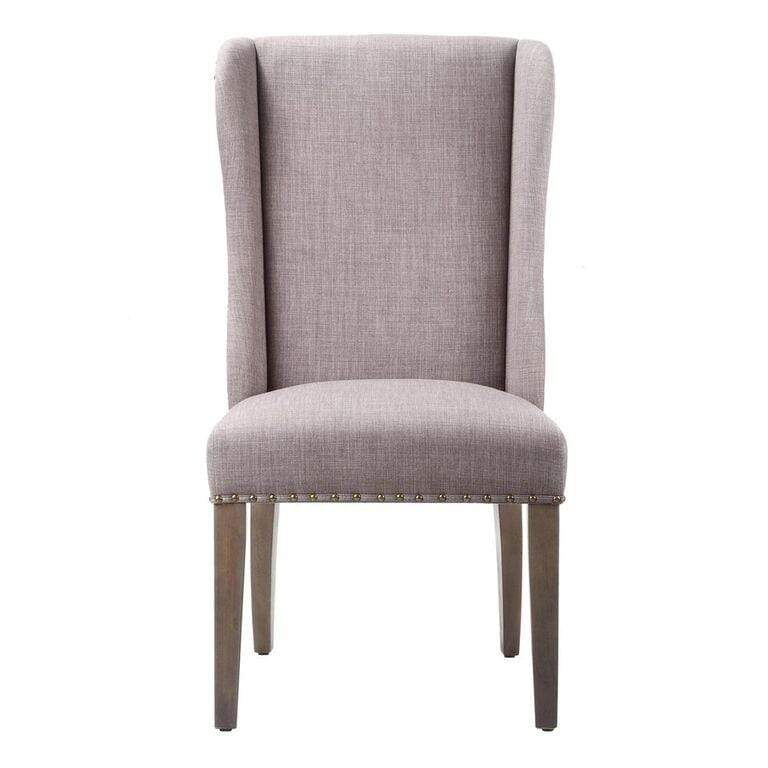 Alex Uhpolstered Wingback Dining Chair in Dolphin (set of 2) - What A Room Furniture