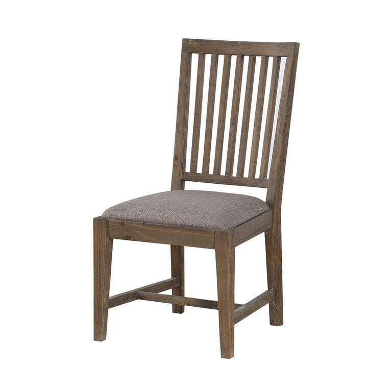 Autumn Solid Wood Upholstered Dining Chair in Flint Oak - What A Room Furniture