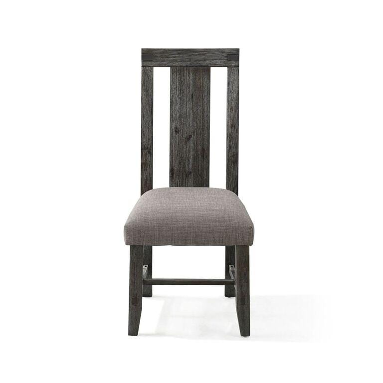 Autumn Solid Wood Upholstered Dining Chair in Flint Oak