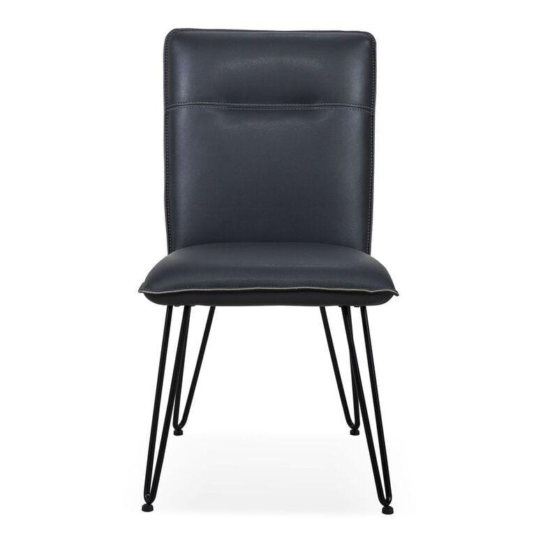 Demi Hairpin Leg Modern Dining Chair in Cobalt - Set of 2 - What A Room Furniture