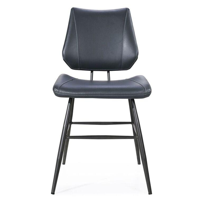 Vinson Sculpted Modern Dining Chair in Cobalt - What A Room Furniture