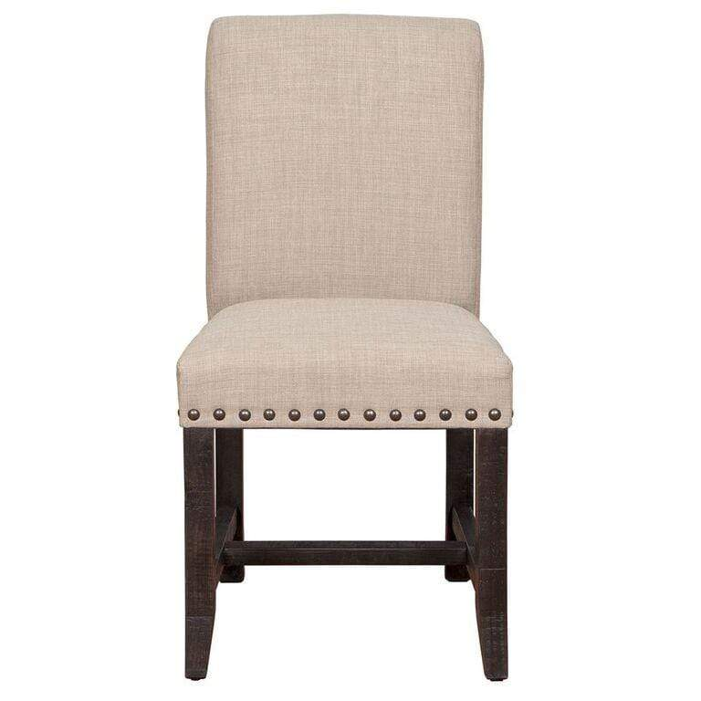 Sebastian Fabric Chair Cement Gray w/ Gold Metal Tip Legs