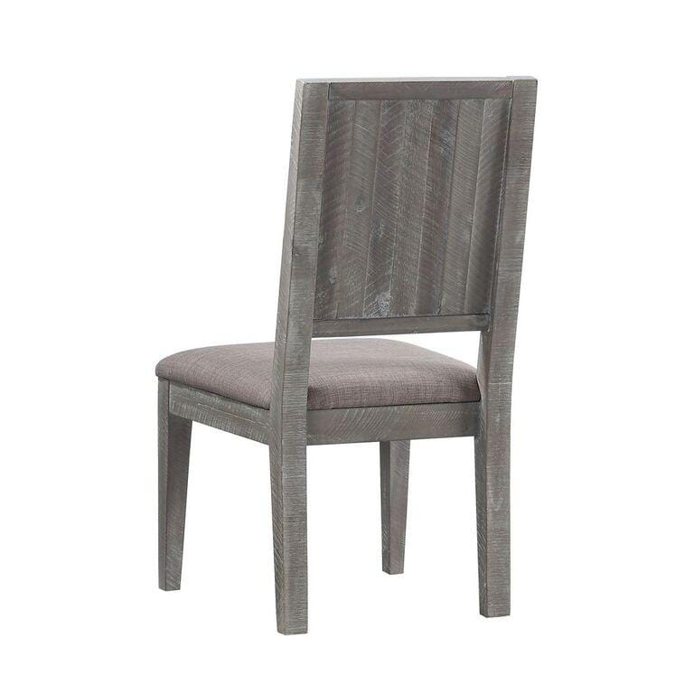 Herringbone Solid Wood Upholstered Dining Chair in Rustic Latte - What A Room Furniture