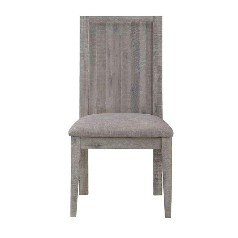 Alexandra Solid Wood Upholstered Chair in Rusic Latte - What A Room Furniture