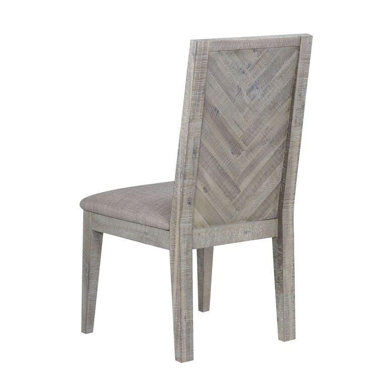 Alexandra Solid Wood Upholstered Chair in Rusic Latte - What A Room