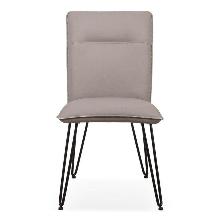 Demi Hairpin Leg Modern Dining Chair in Taupe - Set of 2 - What A Room Furniture