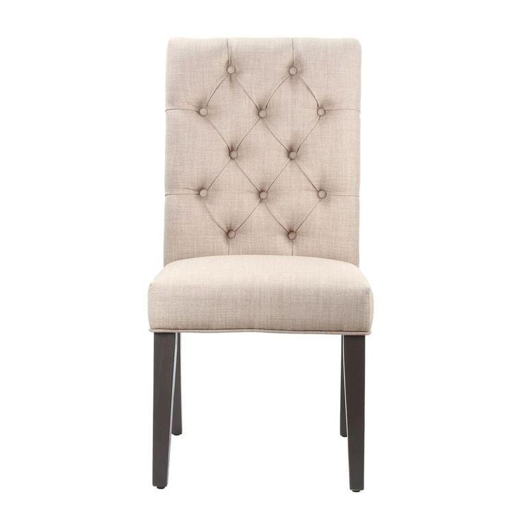 Kathryn Upholstered Parsons Dining Chair in Toast - What A Room Furniture