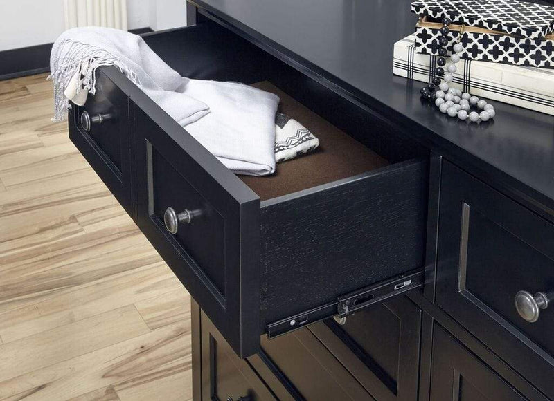 Paragon Eight Drawer Dresser in Black - What A Room