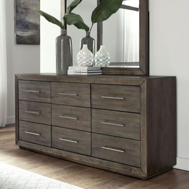 Melbourne Nine Drawer Dresser in Dark Pine - What A Room