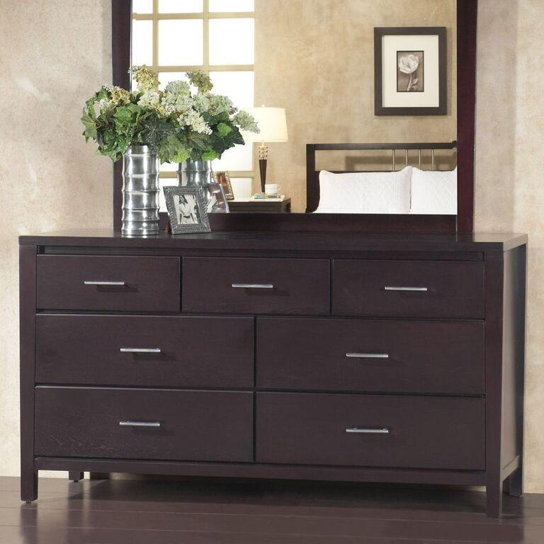 Nevis Seven Drawer Dresser in Espresso - What A Room