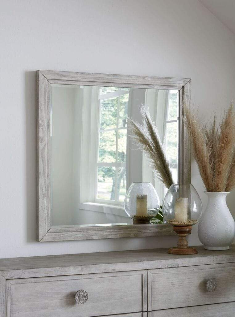 Boho Chic Plain Mirror In Washed White What A Room
