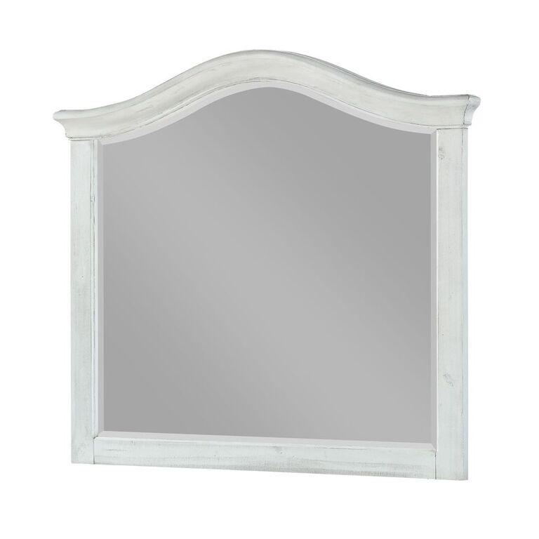 Ella Solid Wood Beveled Glass Mirror in White Wash - What A Room