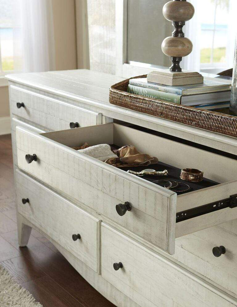 Ella Solid Wood Six Drawer Dresser in White Wash - What A Room Furniture