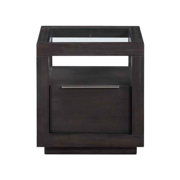 Oxford One Drawer End Table in Basalt Grey - What A Room Furniture