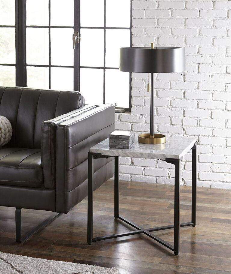 Saxon End Table in Matte Black