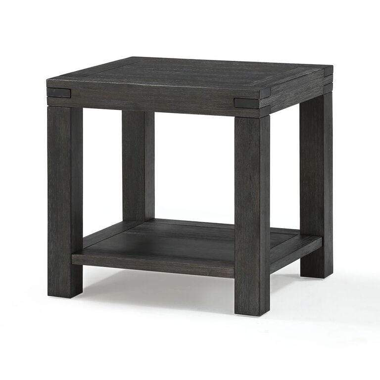 Meadow Solid Wood End Table in Graphite - What A Room Furniture