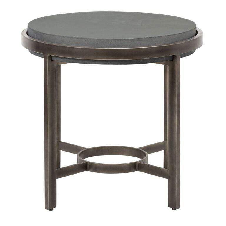 Barcelona Round Concrete End Table - What A Room Furniture