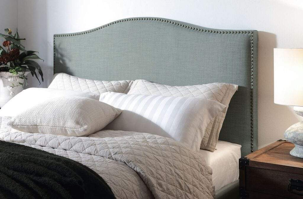 Ariana Camelback Headboard in Bluebird - What A Room Furniture