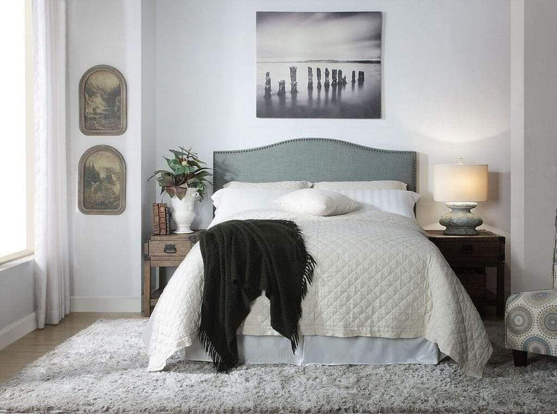 Ariana Camelback Headboard in Bluebird