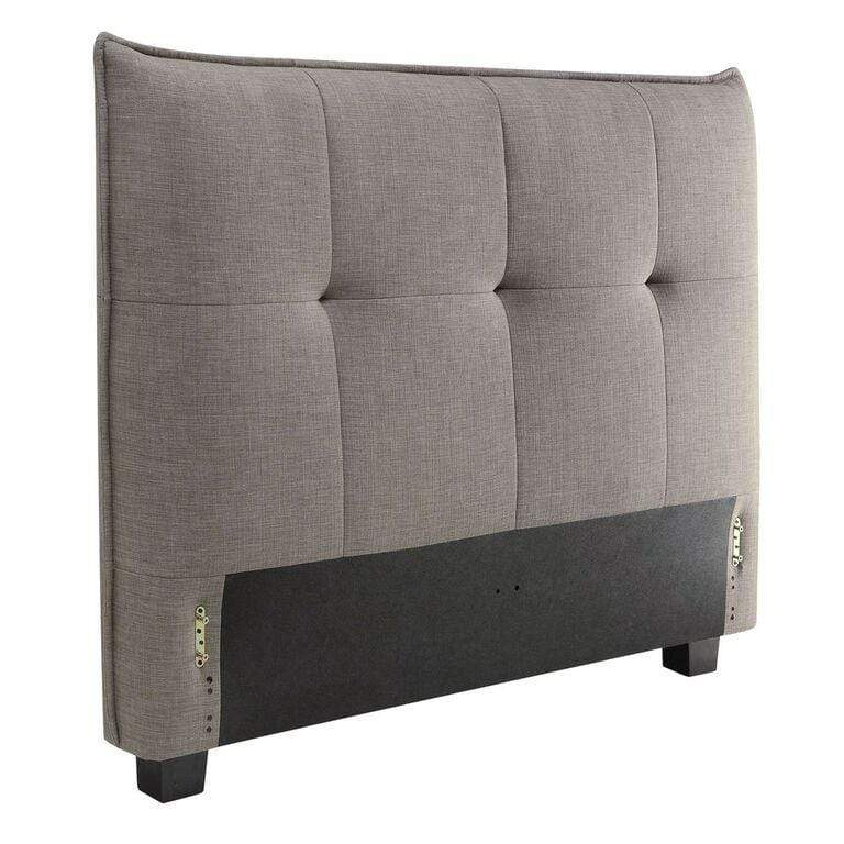Adona Upholstered Headboard in Dolphin Linen - What A Room Furniture