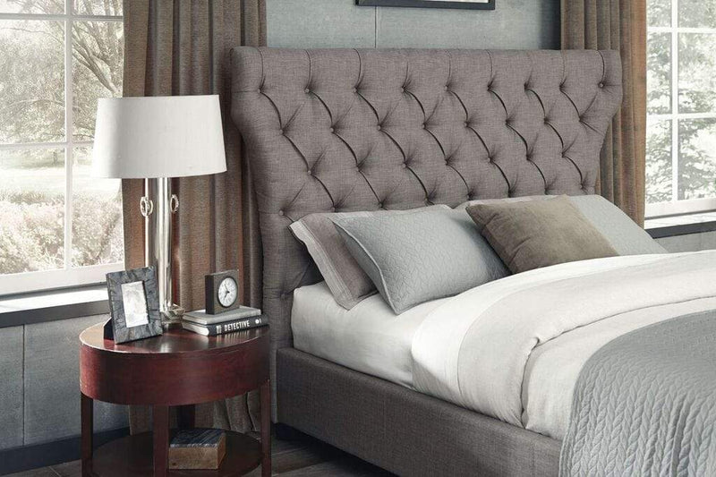 Melina Upholstered Headboard in Dolphin Linen