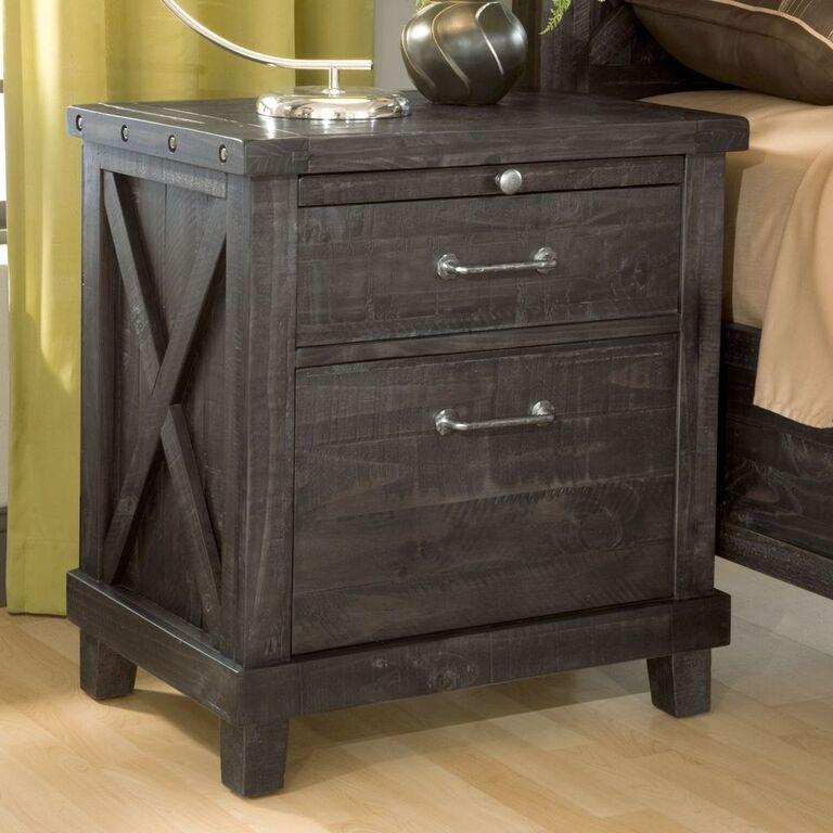 Yosemite Solid Wood Nightstand in Café - What A Room Furniture