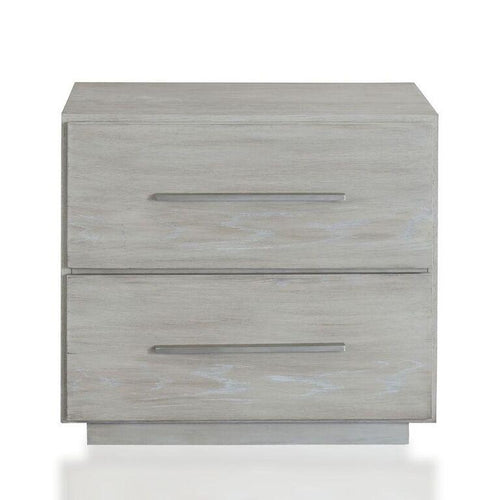 Destination Two Drawer Nightstand in Cotton Grey - What A Room
