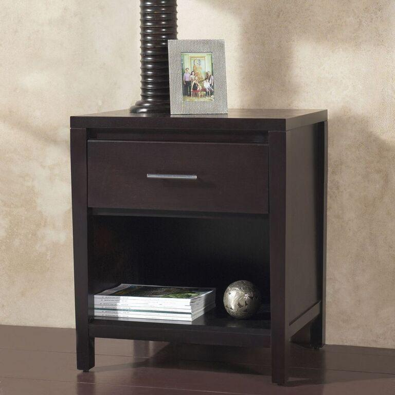 Nevis One Drawer Nightstand in Espresso - What A Room Furniture