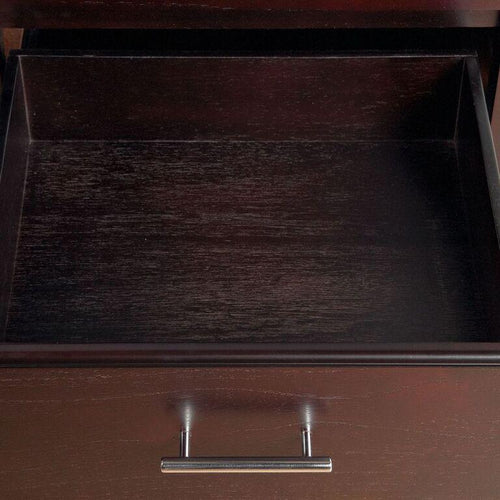 Nevis One Drawer Nightstand in Espresso - What A Room