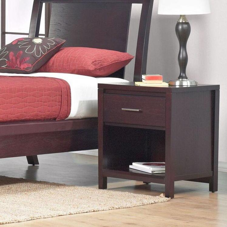 Nevis Charging Station Nightstand in Espresso - What A Room Furniture