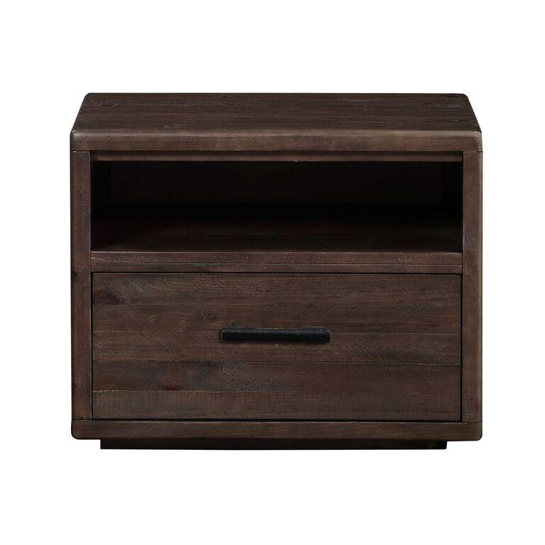 McKinney One Drawer Solid Wood Nightstand in Espresso Pine - What A Room Furniture
