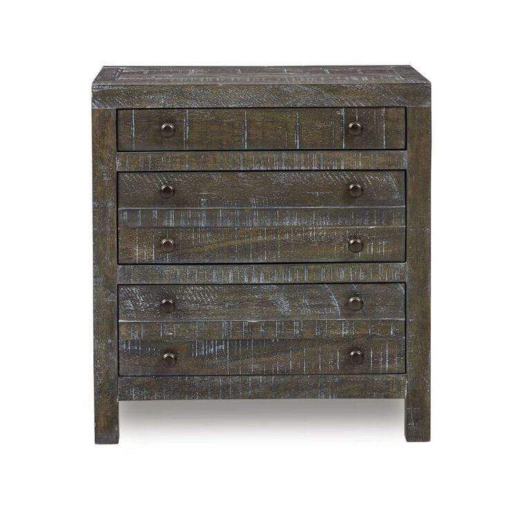 Townsend Solid Wood Three Drawer Nighstand in Gunmetal - What A Room Furniture