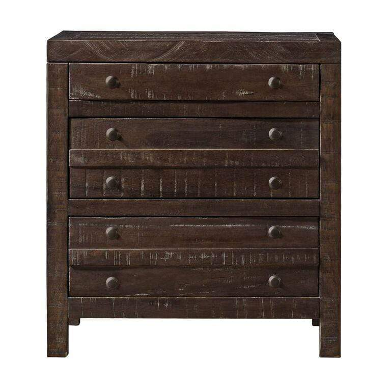 Townsend Three Drawer Solid Wood Nightstand in Java - What A Room Furniture