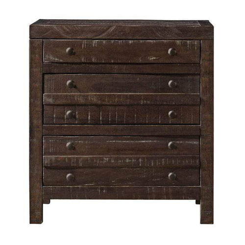 Townsend Three Drawer Solid Wood Nightstand in Java - What A Room