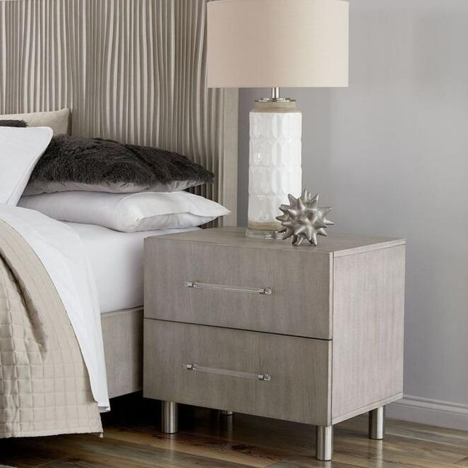 Argento Nightstand in Misty Grey - What A Room Furniture