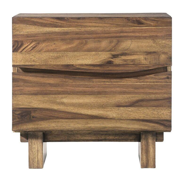 Ocean Two Drawer Solid Wood Nightstand in Natural Sengon - What A Room Furniture