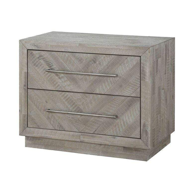 Alexandra Solid Wood Two Drawer Nightstand in Rustic Latte - What A Room Furniture