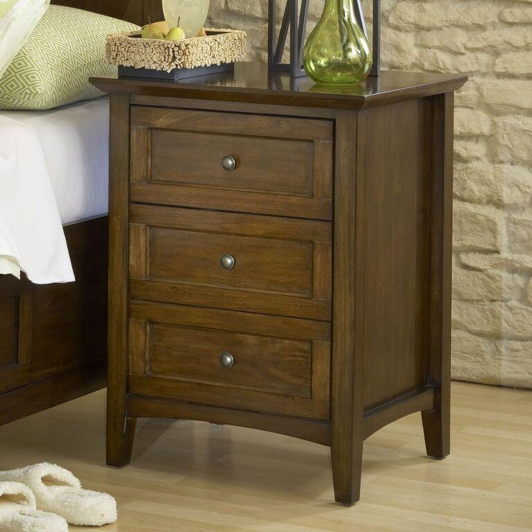 Paragon Three Drawer Nightstand in Truffle - What A Room Furniture