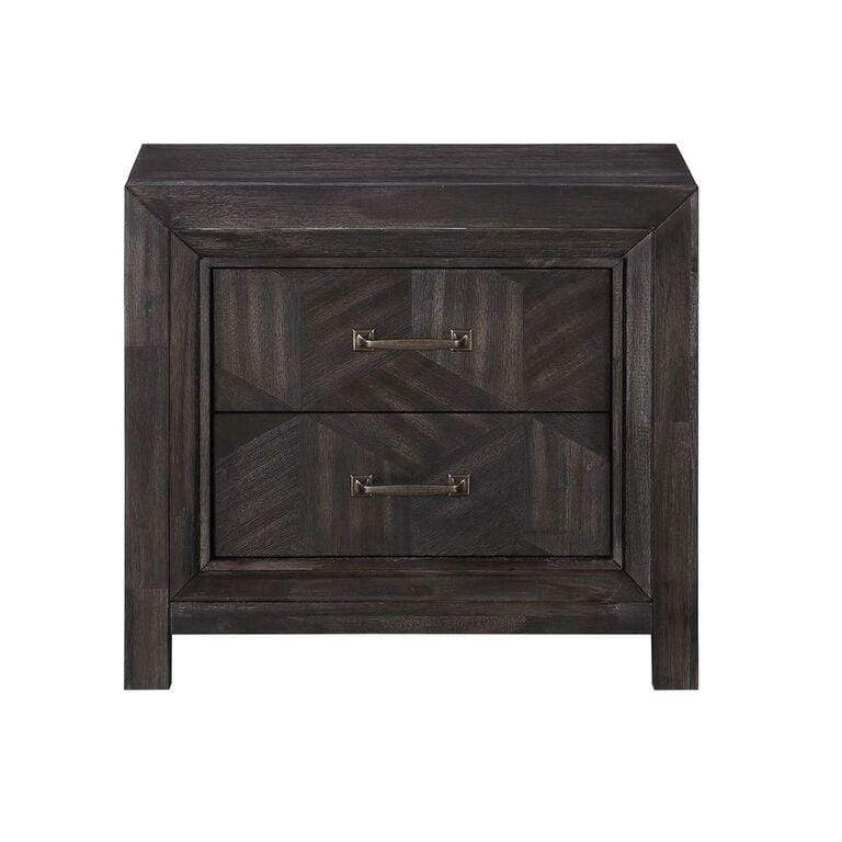 Ripley Two Drawer Nightstand in Vintage Coffee - What A Room Furniture