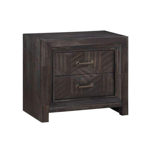 Ripley Two Drawer Nightstand in Vintage Coffee - What A Room