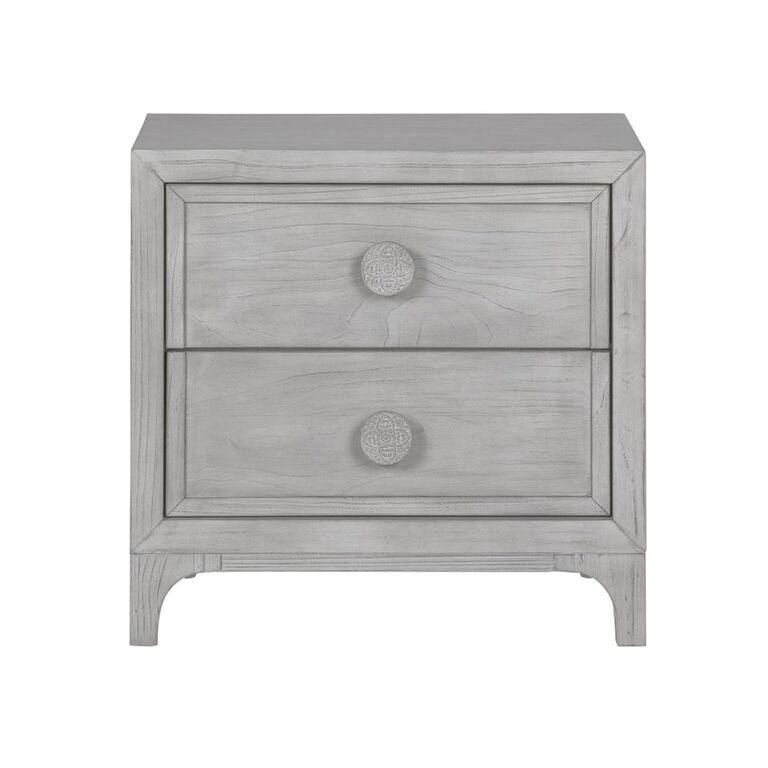 Boho Chic Nighstand in Washed White - What A Room Furniture