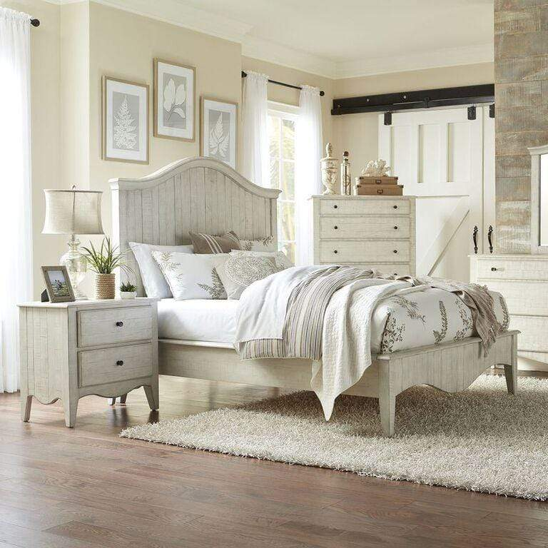 Ella Solid Wood Two Drawer Nightstand in White Wash - What A Room Furniture