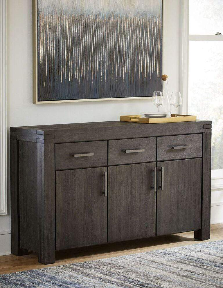 Meadow Solid Wood Three Drawer Three Door Sideboard in Graphite