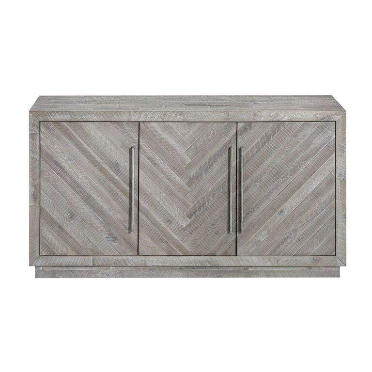 Alexandra Solid Wood Three Door Sideboard in Rustic Latte - What A Room Furniture