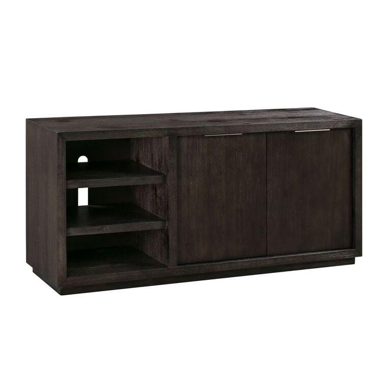 "Oxford Solid Wood 64"" Media Console in Graphite - What A Room Furniture"